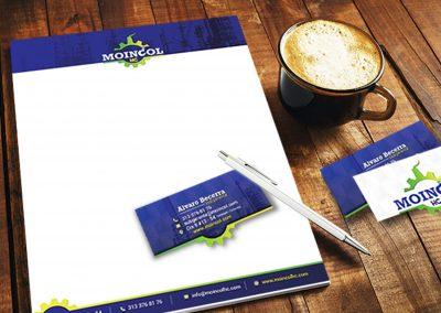 Diseño de hojas membrete y tarjetas de presentación